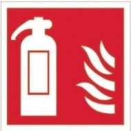 House Nameplate Co Fire Extinguisher Symbol Sign - 10x10cm